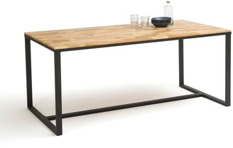 La Redoute Interieurs Hiba Dining Table in Oak/Steel, Up to 8 Covers.