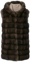 Manzoni 24 - hooded sleeveless jacket - women - Cashmere/Wool/Merino/Sable - 44