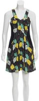 Proenza Schouler Leaf Print Sleeveless Dress