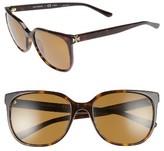 Tory Burch Women's 57Mm Polarized Sunglasses - Dark Tortoise