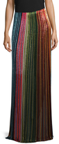 Balmain Beaded Striped Skirt