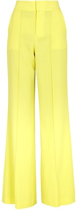 Alice + Olivia Dylan yellow wide-leg trousers