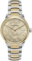 Burberry Men's Swiss The Classic Round Two-Tone Stainless Steel Bracelet Timepiece 40mm BU10011
