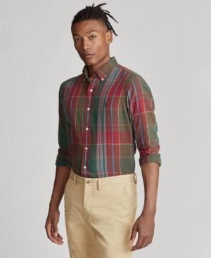 Polo Ralph Lauren Men's Plaid Cotton Twill Shirt