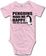 ADAB Infant Penguins Make Me Happy You Not So Much Cute Baby Onesie Bodysuit
