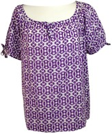 Carolina Herrera Purple Cotton Top for Women
