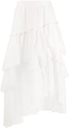 Ermanno Scervino Ruffled Asymmetric Skirt