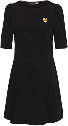 Love Moschino Appliqued Cotton-corduroy Mini Dress