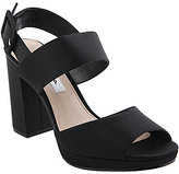 Nina Athena Fabric Square Toe Ankle Strap Block Heel Dress Sandals