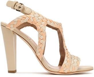 Alberta Ferretti Woven Leather Sandals