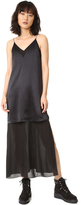 Alexander Wang Charmeuse Cami Chiffon Slip Dress