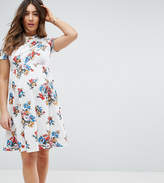 Asos Twist Front Floral Dress