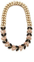 Brass Necklace with Navettes