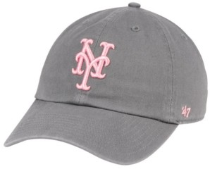 '47 New York Mets Dark Gray Pink Clean Up Cap