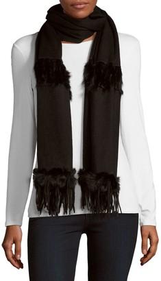 La Fiorentina Rabbit Fur & Wool Scarf