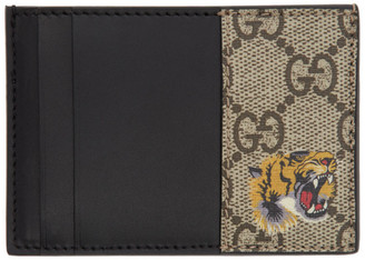 Gucci Beige GG Tiger Card Holder