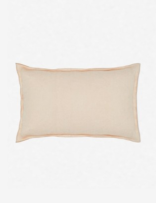 Lulu & Georgia Arlo Linen Lumbar Pillow, Blush