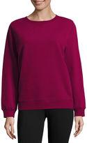 SJB ACTIVE St. John's Bay Active Long Sleeve Sweatshirt-Petites