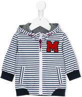 Little Marc Jacobs logo patch striped hoodie
