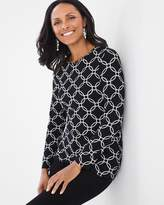 Chico's Karina Loop Geo Long-Sleeve Tee