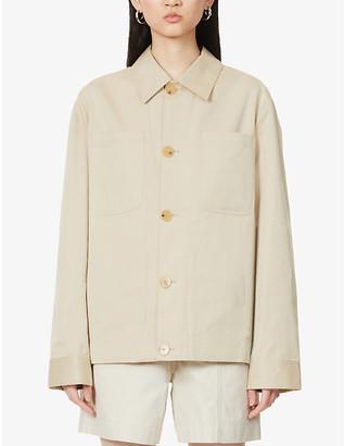 Riley Studio Patch pocket organic cotton-twill jacket