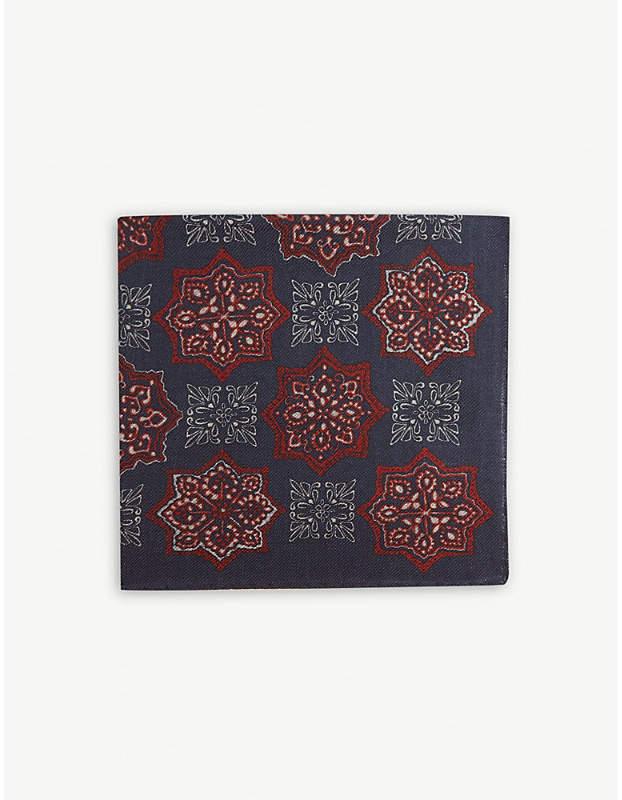 e732eeab2 Printed wool and silk-blend pocket square