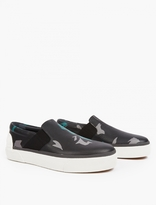 Lanvin Camouflage Leather Slip-On Sneakers