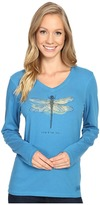 Life is Good Live & Let Fly Dragonfly Long Sleeve Crusher Vee