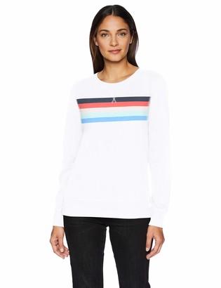 Amazon Essentials French Terry Fleece Crewneck Sweatshirt Navy Stripe US S (EU S - M)
