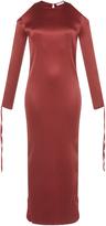 Barbara Casasola Red Open Shoulder Dress