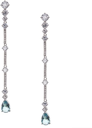 Nina Jewelry Linear Pave Bar Drop Earrings