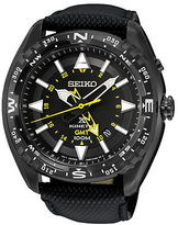 Seiko Stainless Steel and Leather Watch
