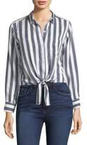 Rails Val Stripe Tie-Front Shirt