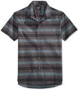 Quiksilver Men's Short-Sleeve Full Draft Stripe Shirt