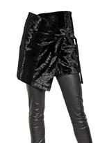 Ann Demeulemeester - Eco Astrakan Wrap Skirt