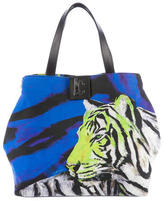 Just Cavalli Printed Canvas Tote