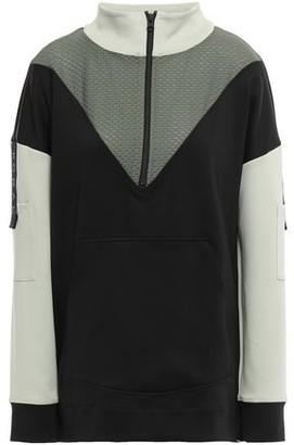 Koral Paneled Scuba And Stretch-mesh Sweatshirt
