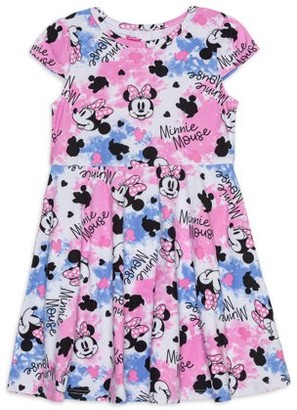 Minnie Mouse Wash Girls Graphic Dress, Sizes 4 -6x