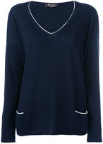 Loro Piana slit sides jumper - women - Silk/Cotton/Cashmere - M