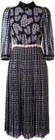 Giamba floral print pleated dress