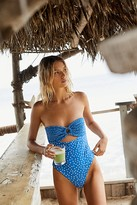 Free People India One-Piece Swimsuit by Rove at Free People, Petite Blue Floral, S