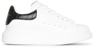 Alexander McQueen White and black croc classic sneakers