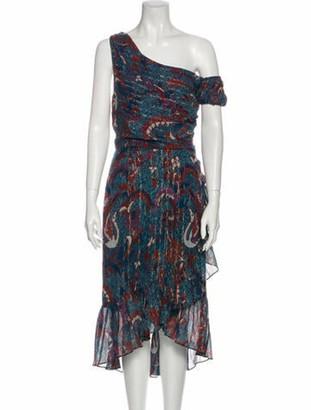 Ulla Johnson Printed Long Dress w/ Tags Blue