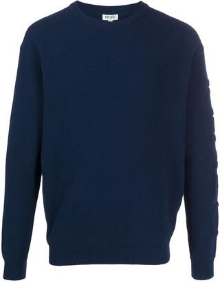 Kenzo Textured-Logo Crew Neck Sweater