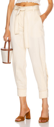 Ulla Johnson Levi Pant in Ivory | FWRD