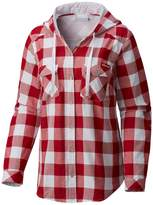 Columbia Women's Wisconsin Badgers Times Two Hooded Button-Down Shirt