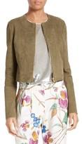 Diane von Furstenberg Women's Zip Front Suede Jacket