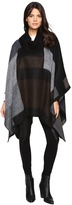 Steve Madden Mondrain Color Block Turtleneck Poncho