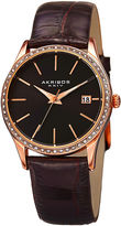 Akribos XXIV Womens Brown Strap Watch-A-883bkr