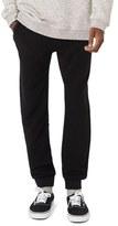Topman Men's Ribbed Zip Pocket Jogger Pants